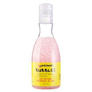 Bubbles Pink Cheeks - Sabonete Líquido Esfoliante 210ml - COD. 031453