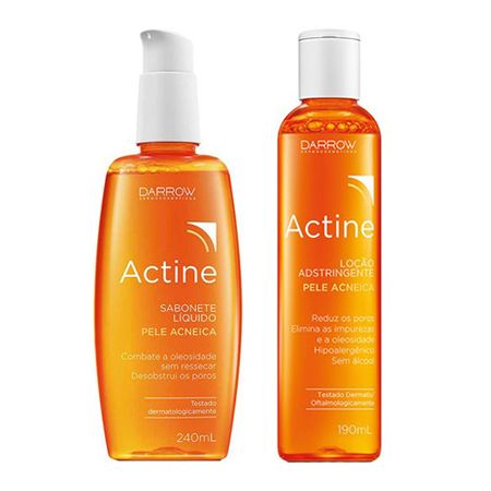 Actine Darrow - Kit Sabonete Líquido 240ml + Loção Adstringente 190ml - Kit