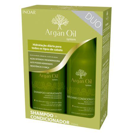 Kit Shampoo + Condicionador Inoar Duo Argan Oil System - nenhuma