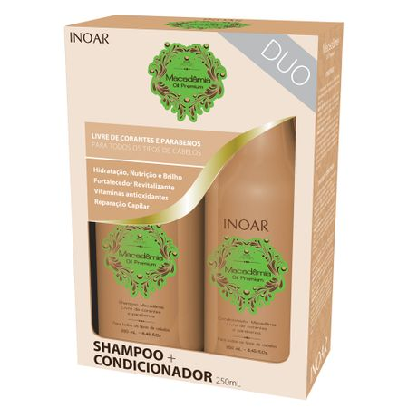 Kit Shampoo + Condicionador Inoar Duo Macadâmia Oil Premium - Kit