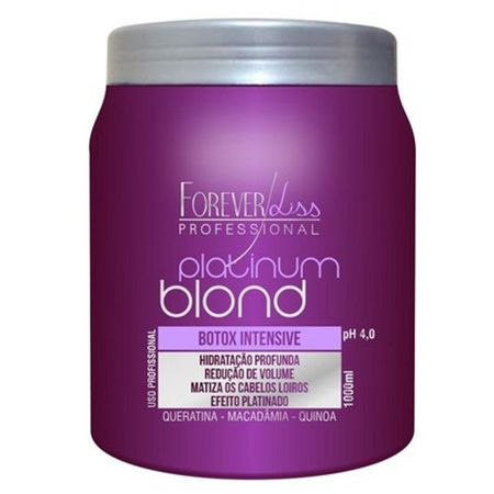 Forever Liss Platinum Blond Botox Intensive - Tratamento Matizador - 1Kg