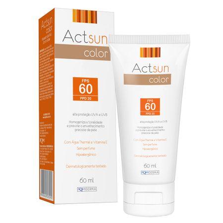 Protetor Solar Facial com Cor de Base Fps60 Actsun Color - Protetor Solar -...