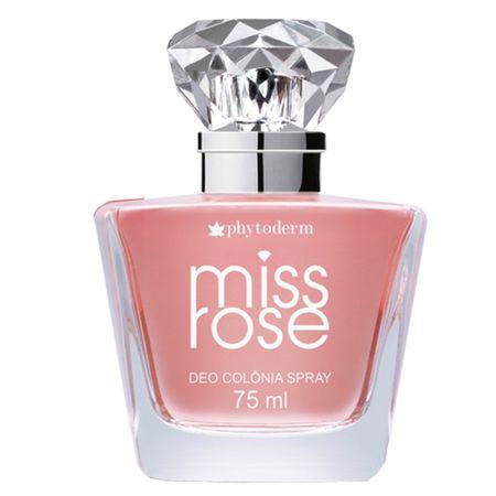 Miss Rose Spray Phytoderm - Perfume Feminino - Deo Colônia - 75ml
