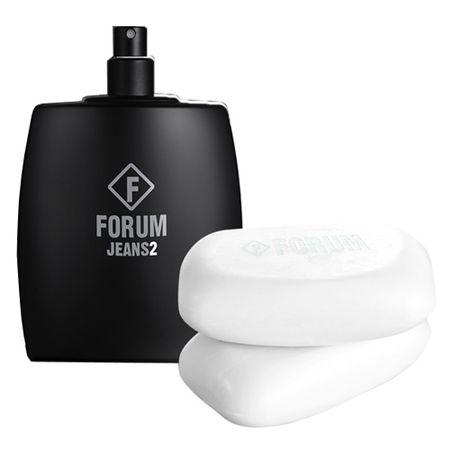 Forum Jeans2 Forum - Masculino - Eau de Toilette - Perfume + Sabonete Corporal...