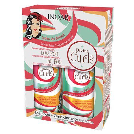 Kit Shampoo + Condicionador Inoar Duo Divine Curls - Kit