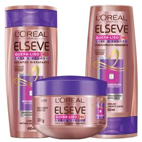 elseve-quera-liso-leve-e-sedoso-l-oreal-paris-shampoo-condicionador-creme-de-tratamento-kit