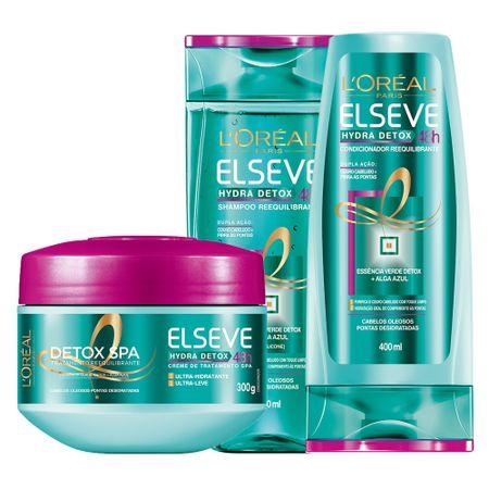 Kit Condicionador + Shampoo + Creme de Tratamento L'Oréal Paris Elseve...
