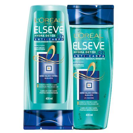 Kit Condicionador + Shampoo L'Oréal Paris Elseve Hydra-Detox Anti-Caspa - Kit
