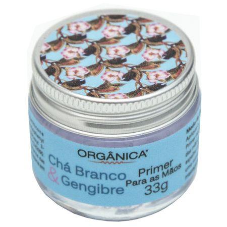 Hidratante para as Mãos Orgânica Primer Chá Branco e Gengibre - 33g