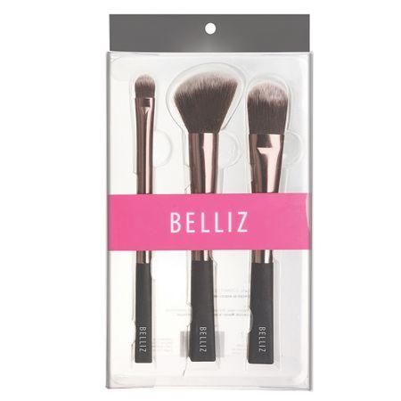 Conjunto de Maquiagem Unique Belliz - Pincéis - Kit