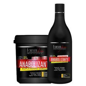 anabolizante-capilar-forever-liss-shampoo-creme-de-hidratacao-kit