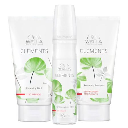 Kit Shampoo + Máscara + Leave-In Wella Professionals Elements - Kit