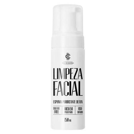 Espuma Purificante Detox Cia. da Barba - Limpador Facial - 150ml
