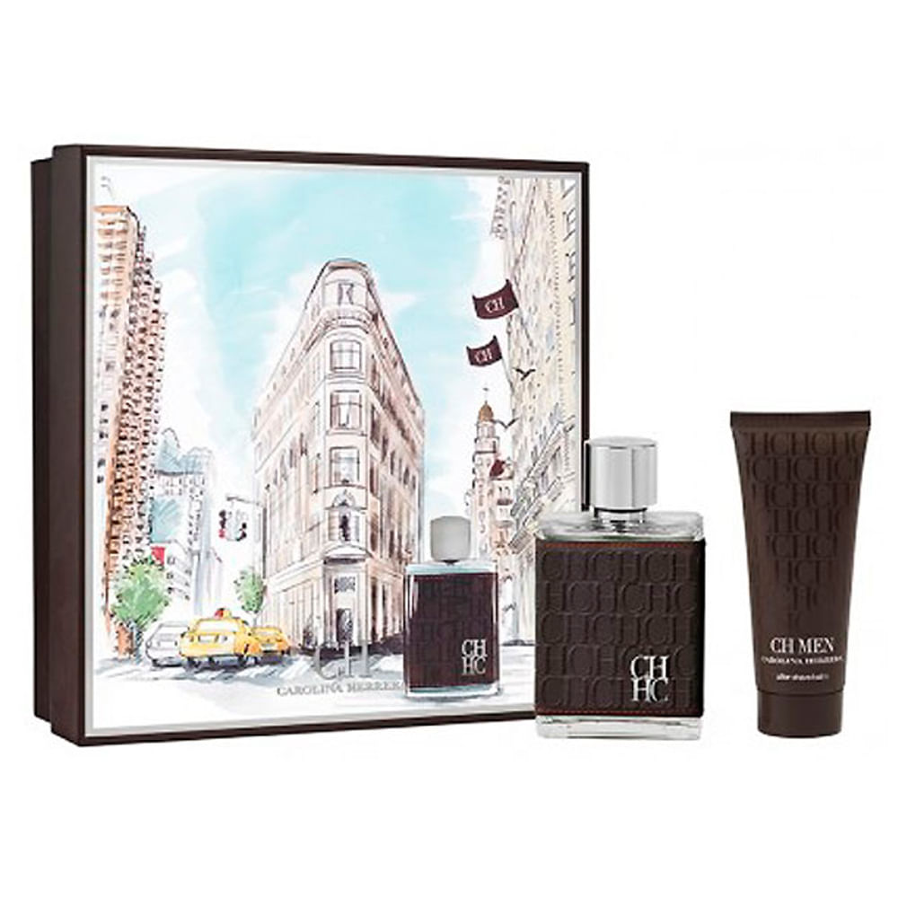 04e06422785ee Kit CH Men Carolina Herrera- EDT 100ml + Loção Pós-Barba - Época ...