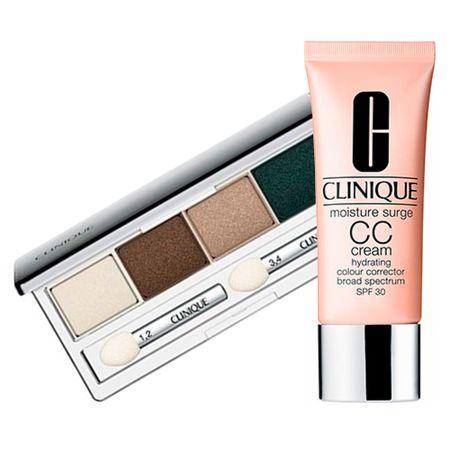 Clinique Paleta de Sombras + CC Cream Kit - All About Shadow Quad + Moisture...