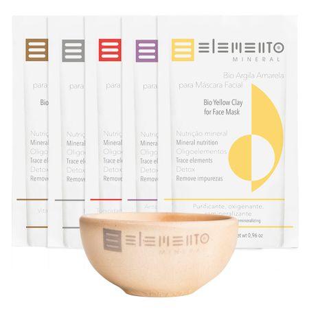 Kit de Máscara Facial Elemento Mineral Revitalizante - Kit