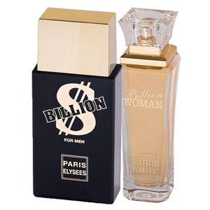e485bcc38ae Paris Elysees Billion + Billion Woman - Perfume Feminino + Perfume  Masculino - Kit