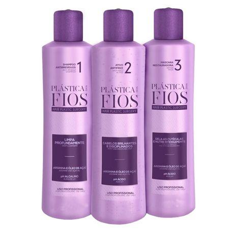 Cadiveu Plástica dos Fios Kit - Shampoo + Antifrizz + Máscara Restauradora - Kit
