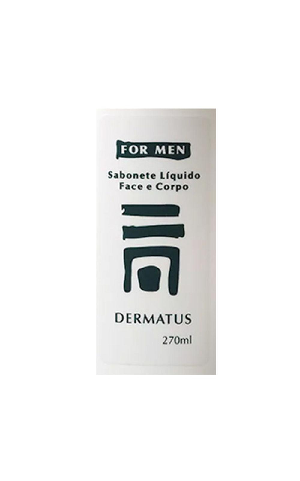 Foto 2 - Dermatus For Men Sabonete Face e Corpo Dermatus - Limpador Facial e Corporal - 270ml