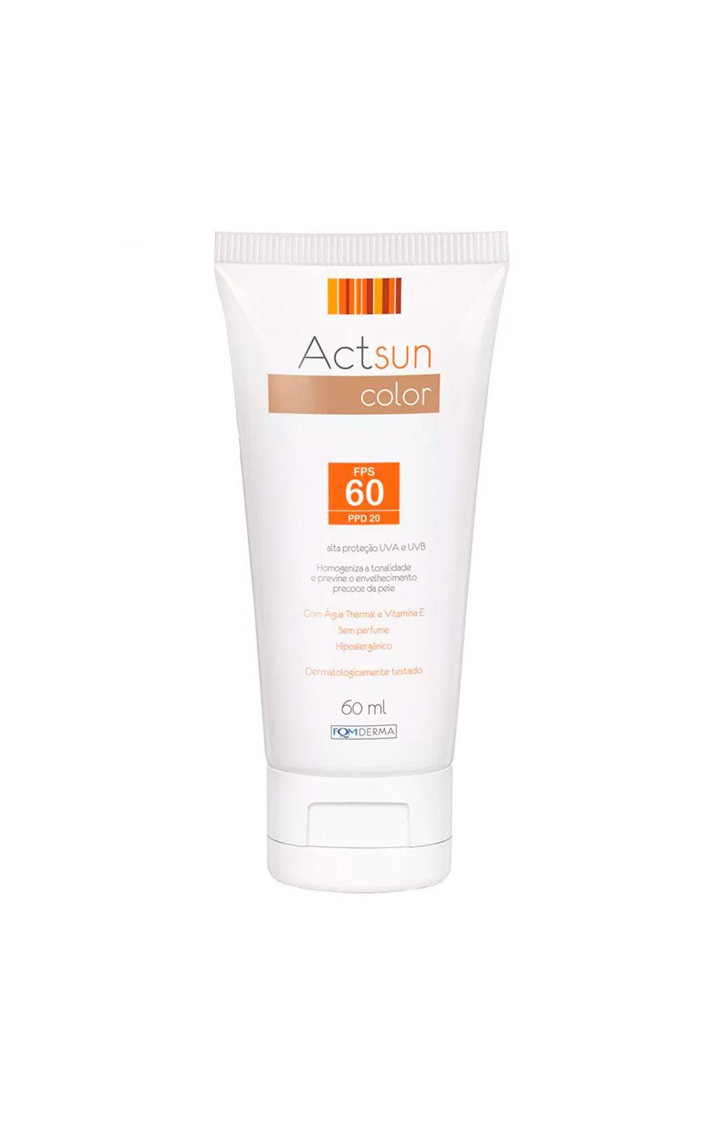 Foto 2 - Protetor Solar Facial com Cor de Base Fps60 Actsun Color - Protetor Solar - Universal