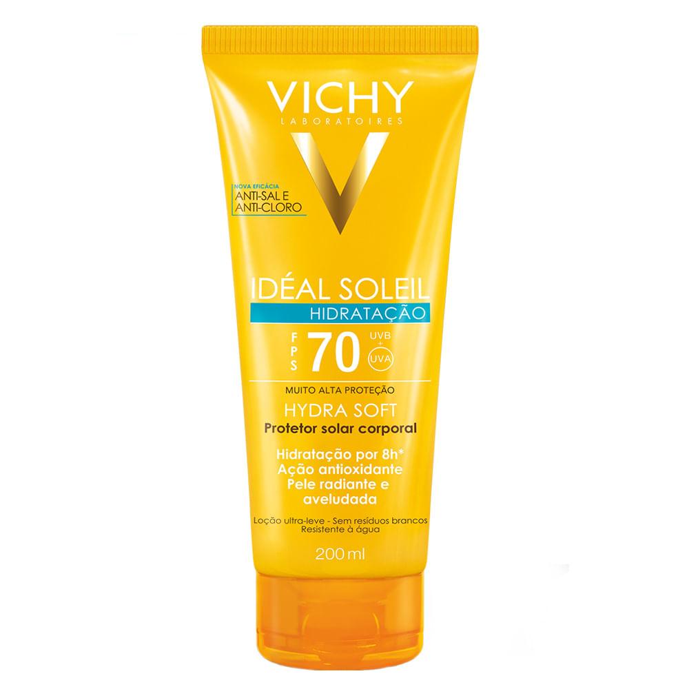 Protetor Solar Vichy - Idéal Soleil Hydrasoft FPS70 -
