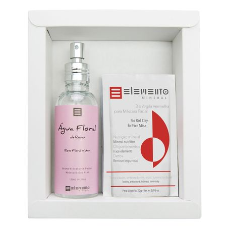 Elemento Mineral Rosas Kit - Argilas + Spray Hidratante Facial - Kit