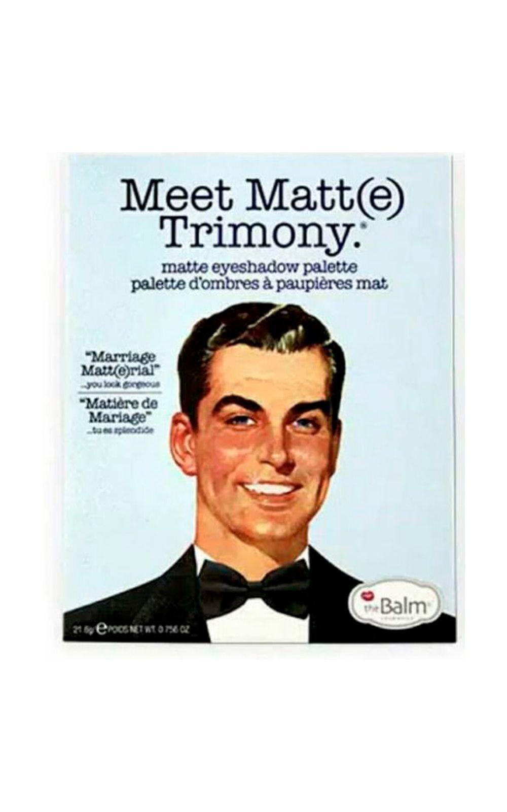 Foto 2 - Meet Matt(e) Trimony The Balm - Paleta de Sombras - 1 Un