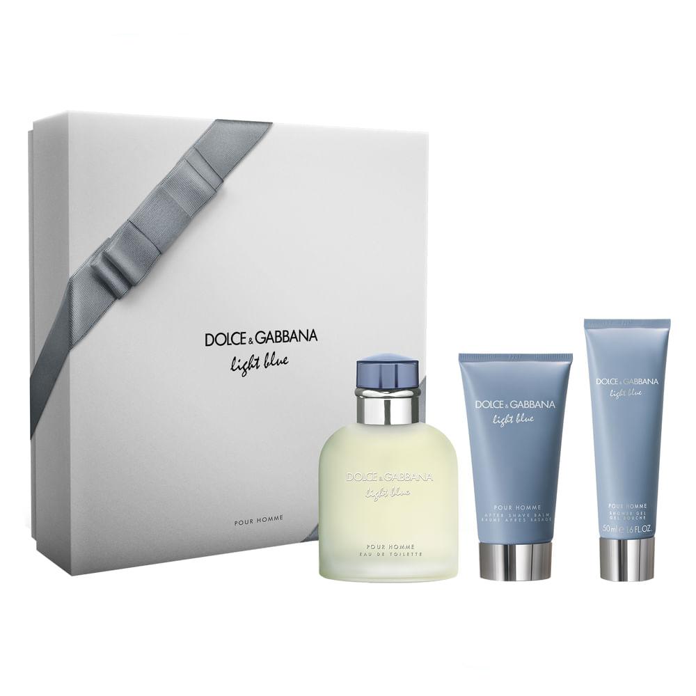 Kit Dolce   Gabbana Light Blue Homme - Época Cosméticos b5827da404