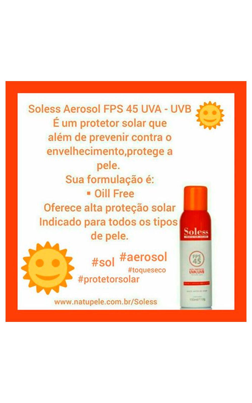Foto 2 - Protetor Solar Natupele Soless FPS 45 Aerosol - 120g
