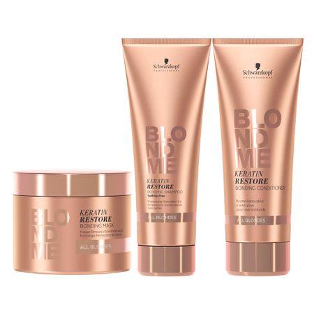 Schwarzkopf  BC Blond Me Proteção Completa Kit - Shampoo + Máscara +...