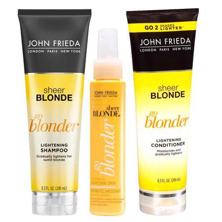 John Frieda Sheer Blonde Go Blonder Verão Kit - Spray + Condicionador + Shampoo...