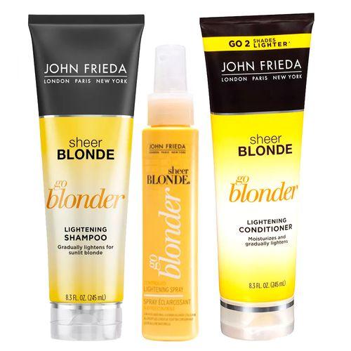 kit john frieda go blonder spray cond shampoo poca cosm ticos. Black Bedroom Furniture Sets. Home Design Ideas