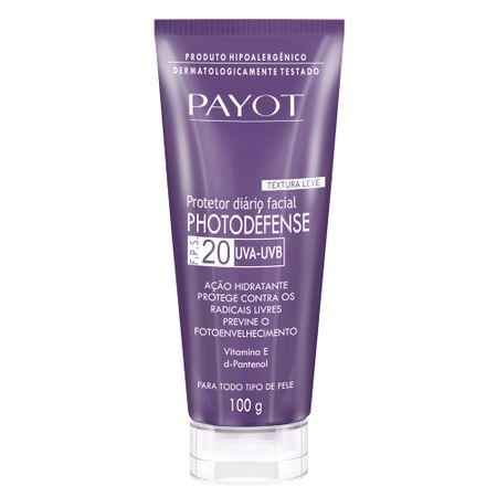 Protetor Solar Facial Payot - Photodéfense FPS20 - 100g