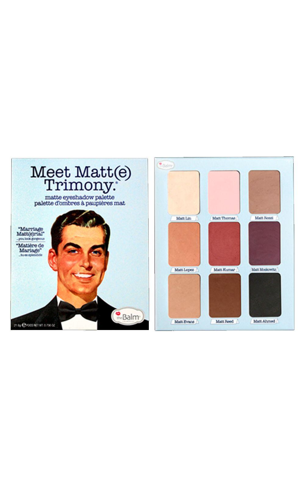 Foto 4 - Meet Matt(e) Trimony The Balm - Paleta de Sombras - 1 Un