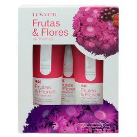 Lowell-frutas-flores-vermelhas-kit-shampoo-condicionador-leave-in