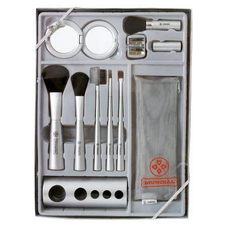 Kit de Pincéis para Maquiagem Completo - Mundial - Kit
