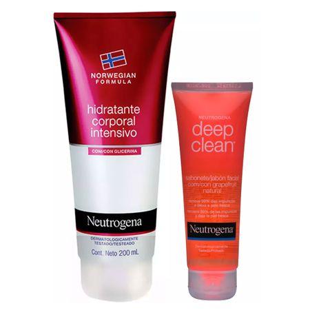 Neutrogena Deep Clean + Norwegian Kit - Sabonete Facial + Hidratante Corporal -...
