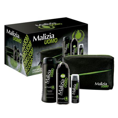Malizia Masculino Kit - Desodorante + Espuma de Barbear + Sabonete Líquido +...