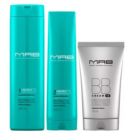 MAB Hidro Control + BB Cream Kit - Shampoo + Condicionador + Leave-in BB Cream...