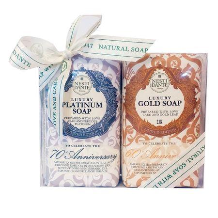 Nesti Dante Luxury Gold e Platinum Kit - Sabonetes em Barra - Kit