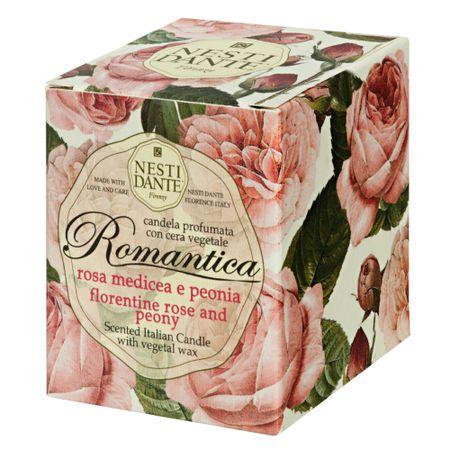 Vela Perfumada Nesti Dante - Romantica Rosa Florentina e Peônia - 160g