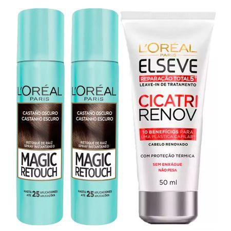 L'Oréal Paris Magic Retouch + Cicatri Renov Kit - Leave-In + 2 Corretivos...