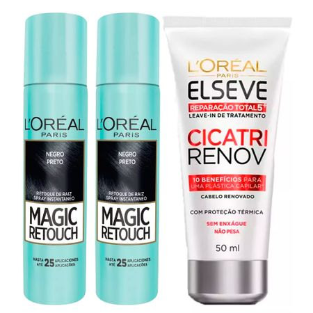 L'Oréal Paris Magic Retouch + Ganhe Cicatri Renov Kit - Leave-In + 2 Corretivos...