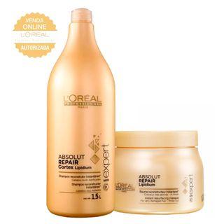b174599f6 ... L'Oréal Professionnel Absolut Repair Pós Química Kit - Shampoo 1,5L +  Máscara ...
