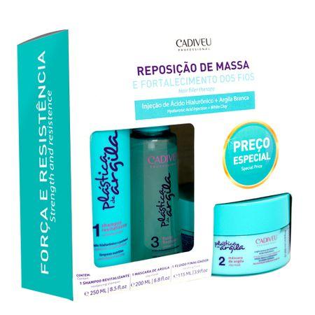 Cadiveu Plástica de Argila Reposição de Massa  Kit - Shampoo + Máscara de...