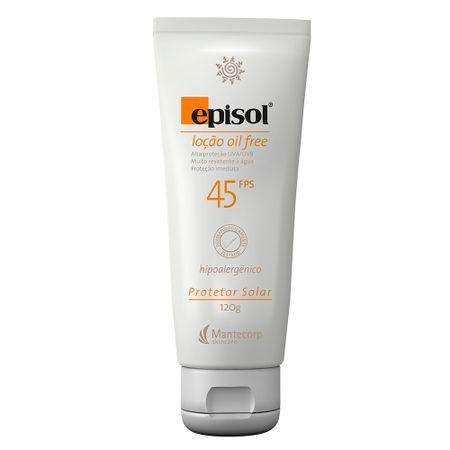 Protetor Solar Fps45  Episol Mantecorp Skincare Loção Oil Free - 120ml