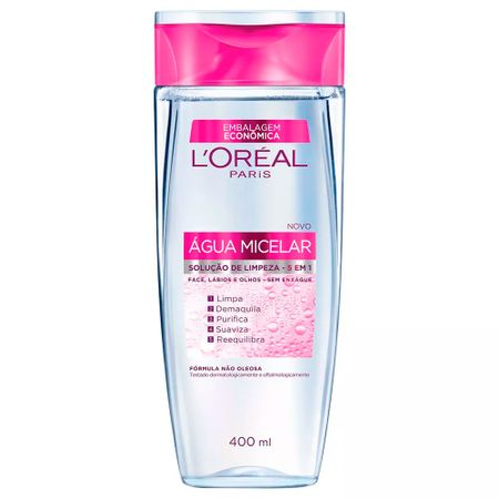 Kit Agua Micelar L'Oréal Paris 5 em 1 + VolumExpress Colossal Glam WP + Lapis...