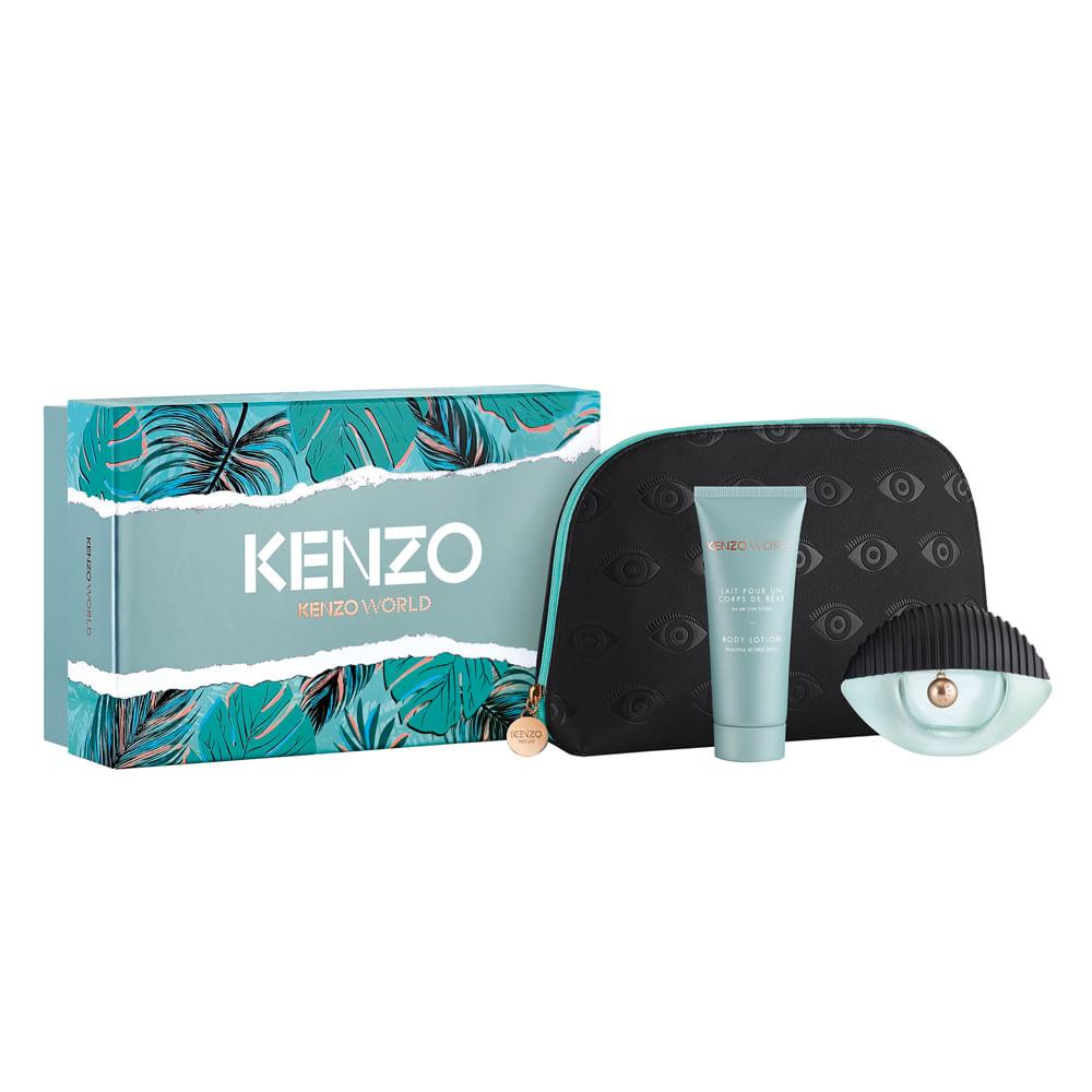 62b4c78aa528 Kit Kenzo Kenzo World - Eau de Parfum + Nécessaire + Loção Corporal ...