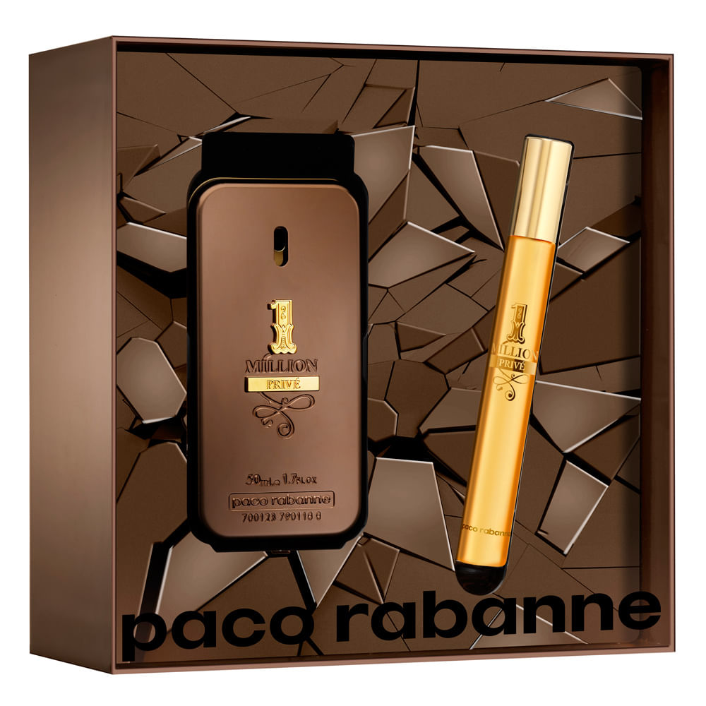 545fa301a7 Kit Paco Rabanne 1 Million Privé - EDP 50ml + Travel Size - Época Cosméticos
