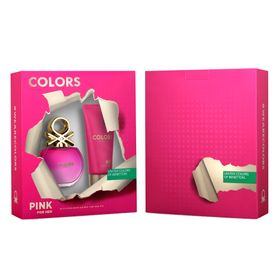 Benetton-Colors-Pink-Kit---EDT-80ml---Body-Lotion